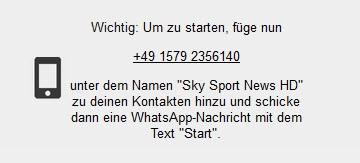 Sky Sport News Hd Per Whatsapp Auf Handy Emfpangen