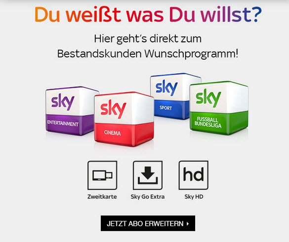 Sky Angebote FГјr Bestandskunden