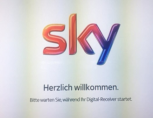 sky receiver startet nicht