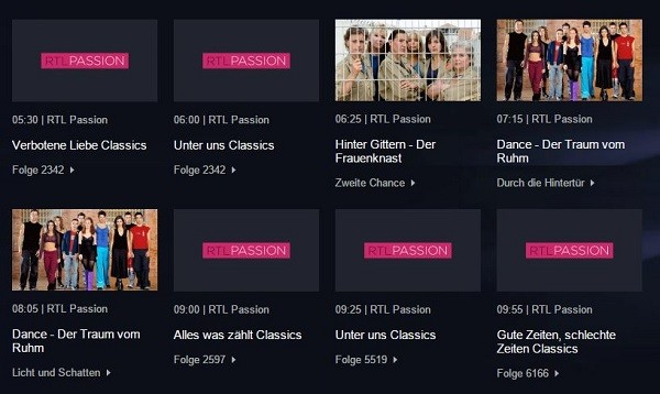 tv programm rtl passion