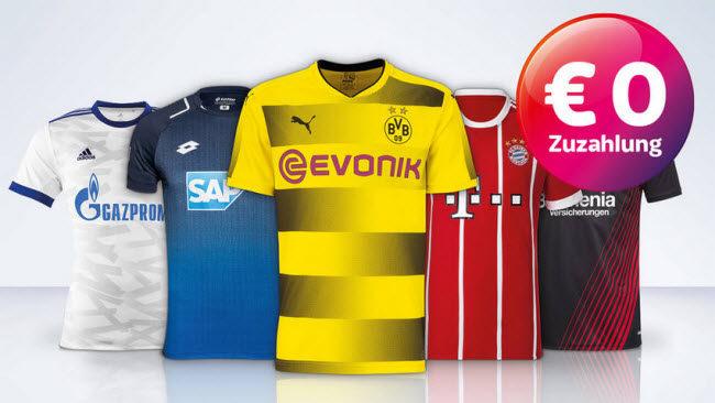 half off 875df e559c Gratis Bundesliga Trikot mit Sky Freundschaftswerbung