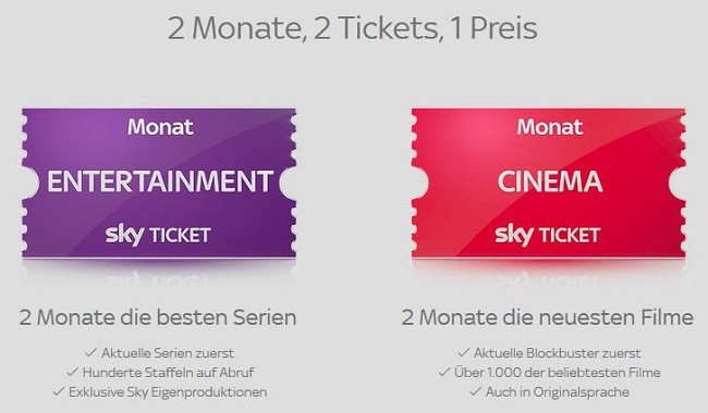 Sky Ticket zum Aktionspreis