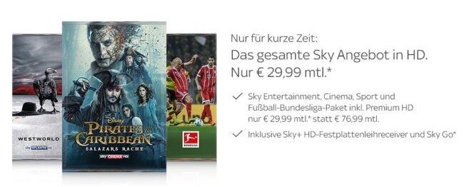 Sky Bestpreis Angebot
