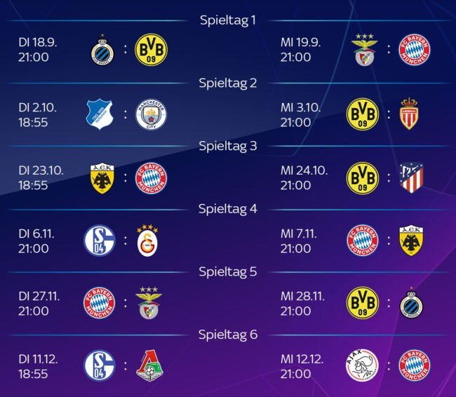 Champions League 2021/20 Spielplan