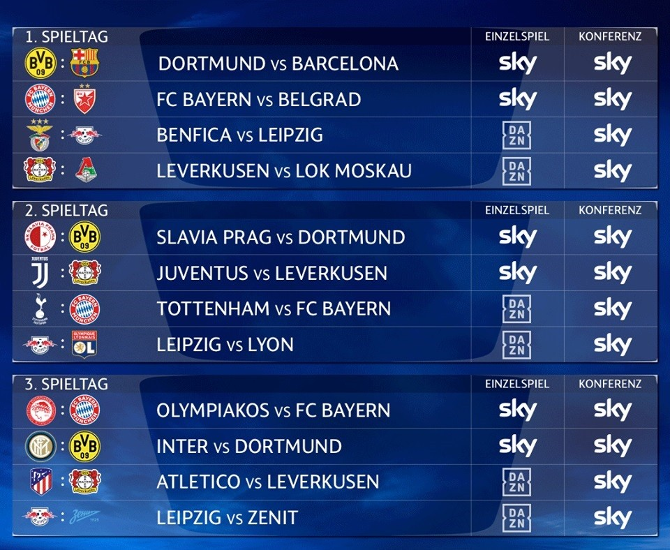 Alle Champions League Spiele