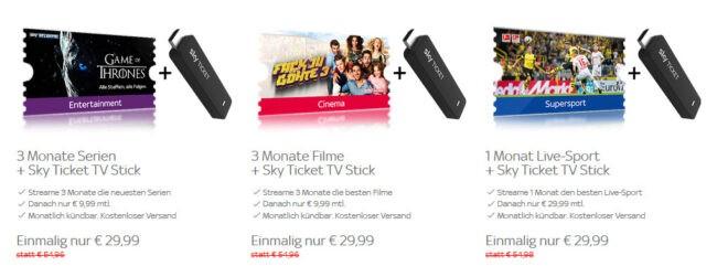 Sky Entertainment Monatsticket Im 1 Monat Nur 499