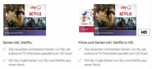 Sky Serien Angebot